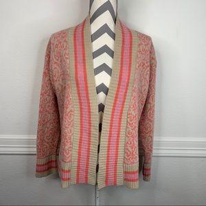 Sundance Cozy Lambswool Striped Cardigan Size M
